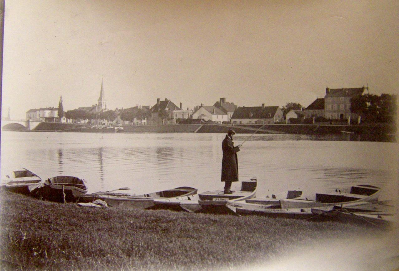 Léon Gambey à la pêche