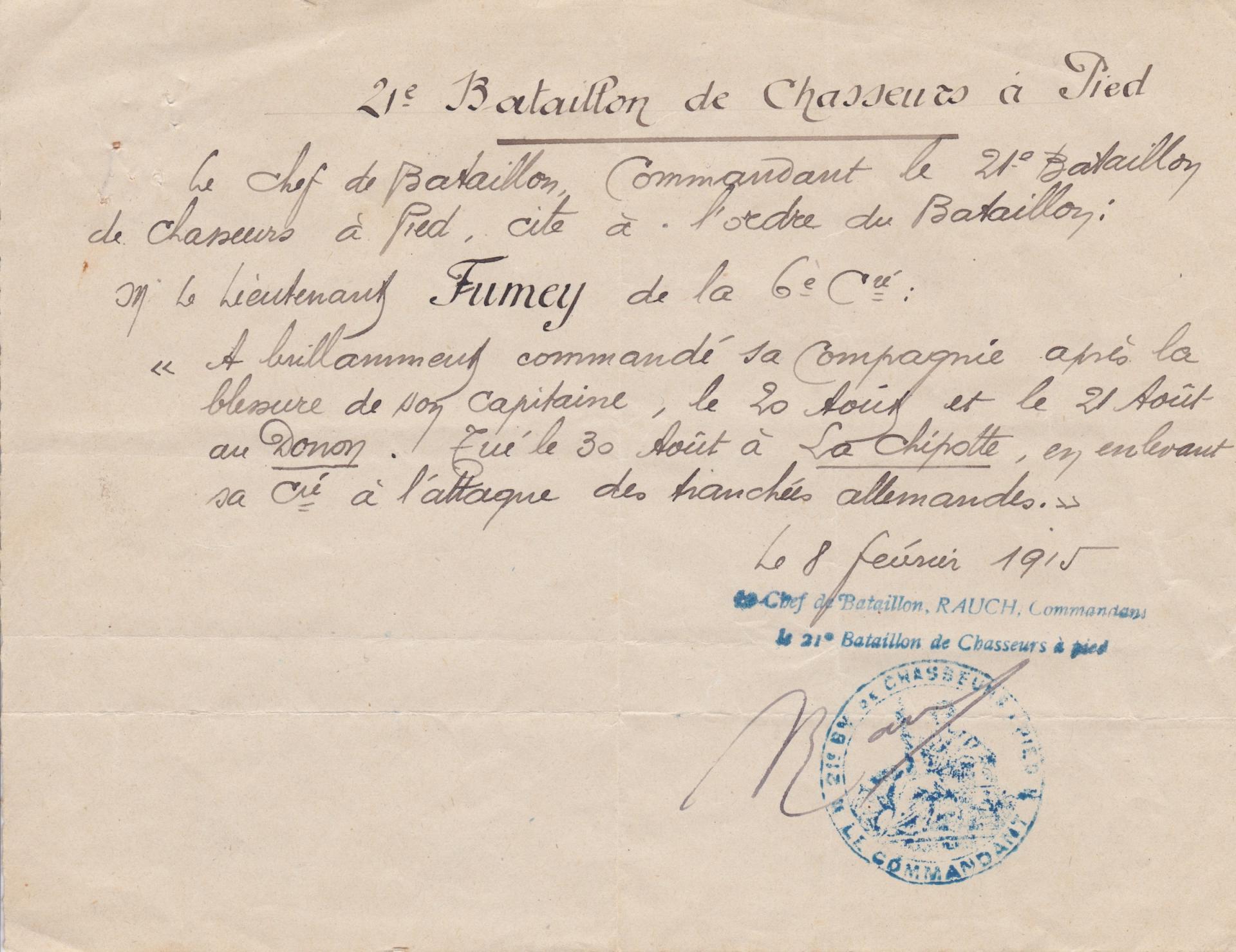 Citation bataillon