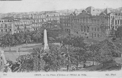 Oran place d armes et hotel de ville